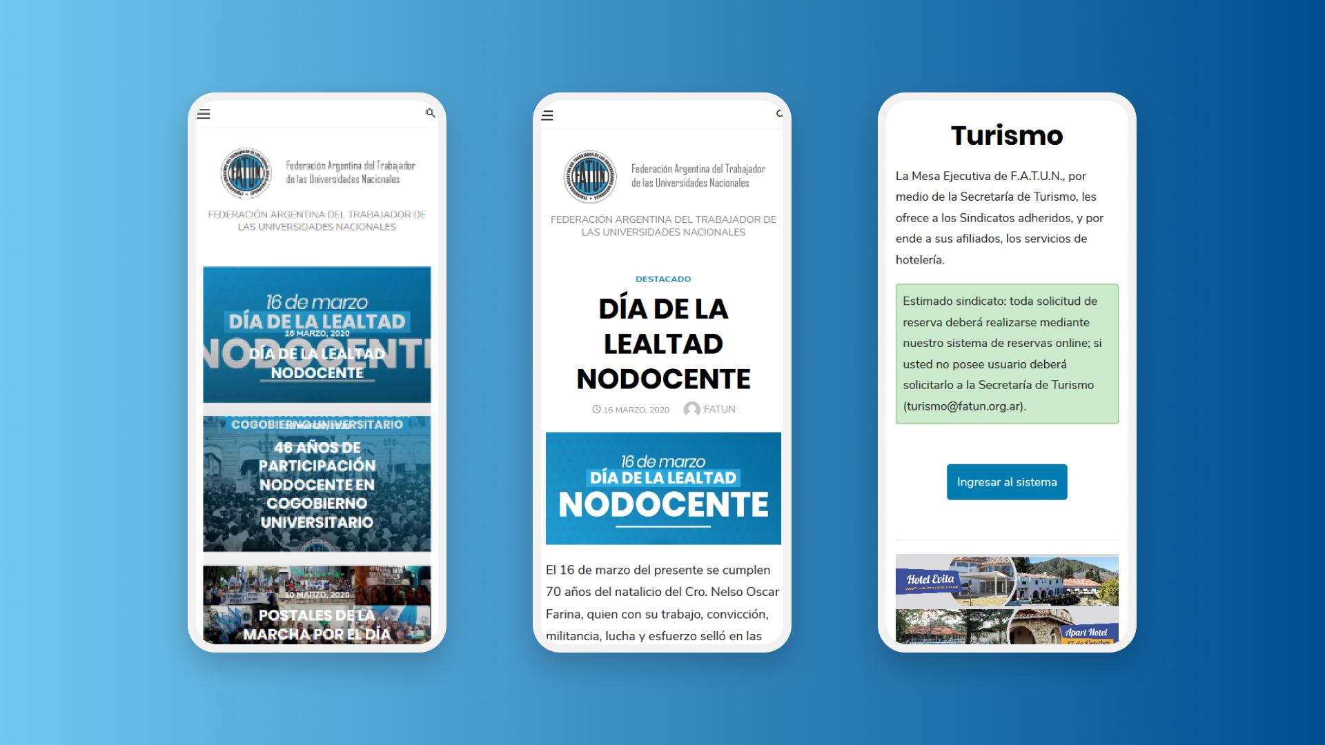 Diseño web para la FATUN