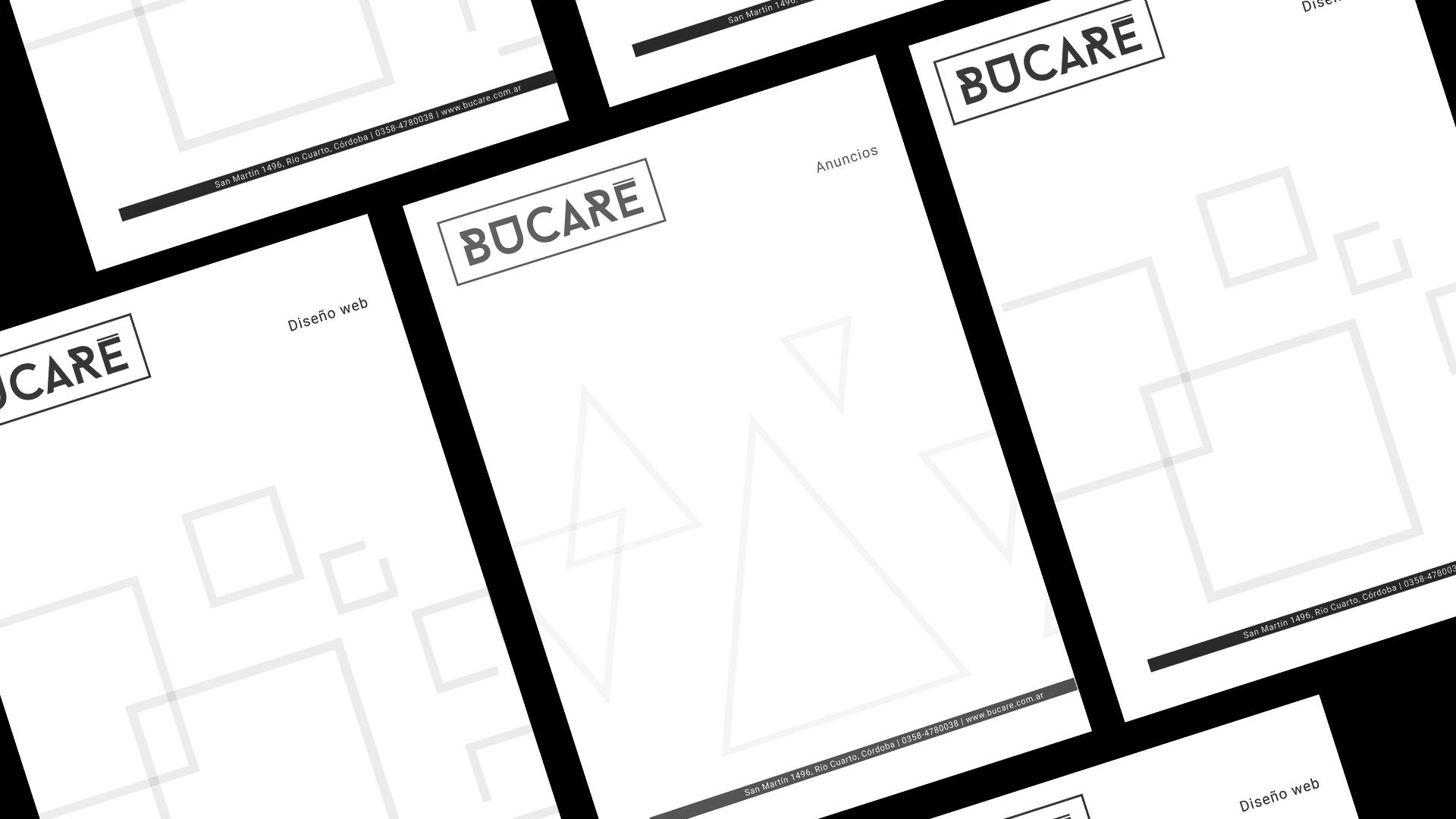 Branding Bucaré - aplicación en papelería