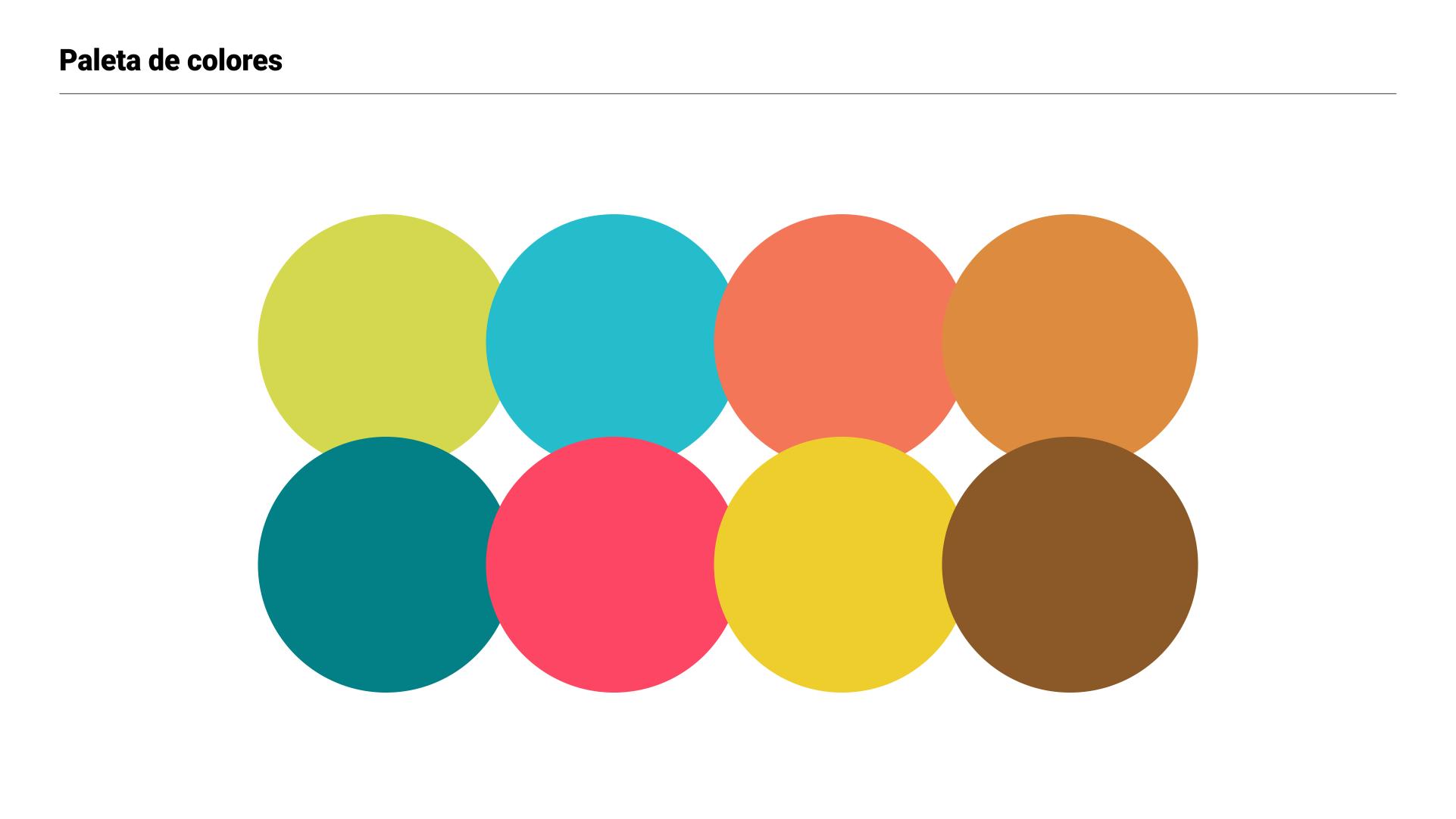 Branding Bucaré - paleta de colores