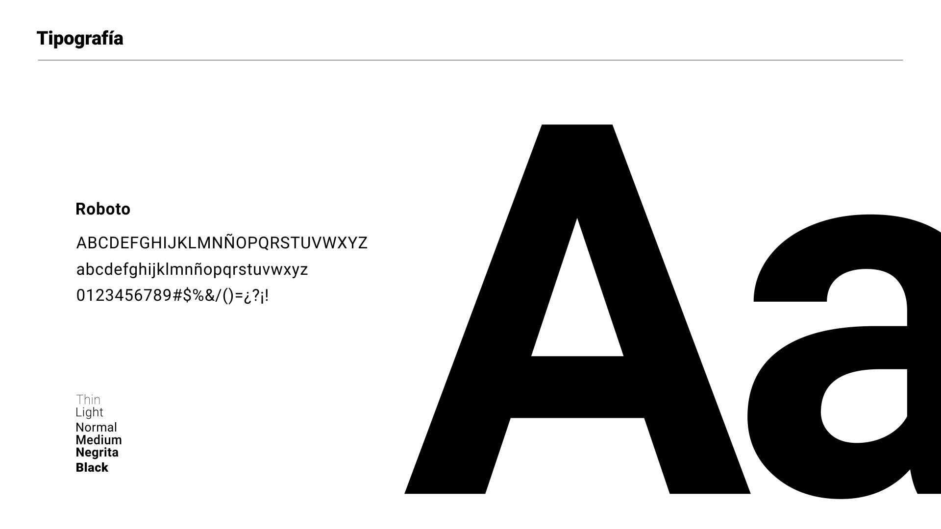 Branding Bucaré - familia tipográfica