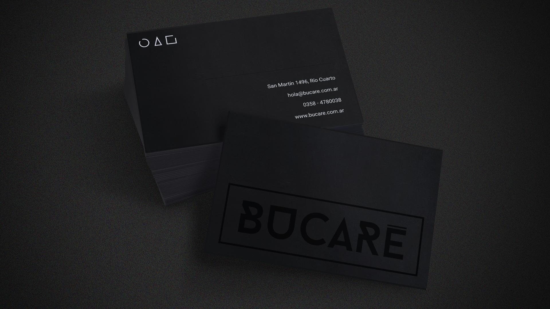 Branding Bucaré - aplicación en tarjetas personales
