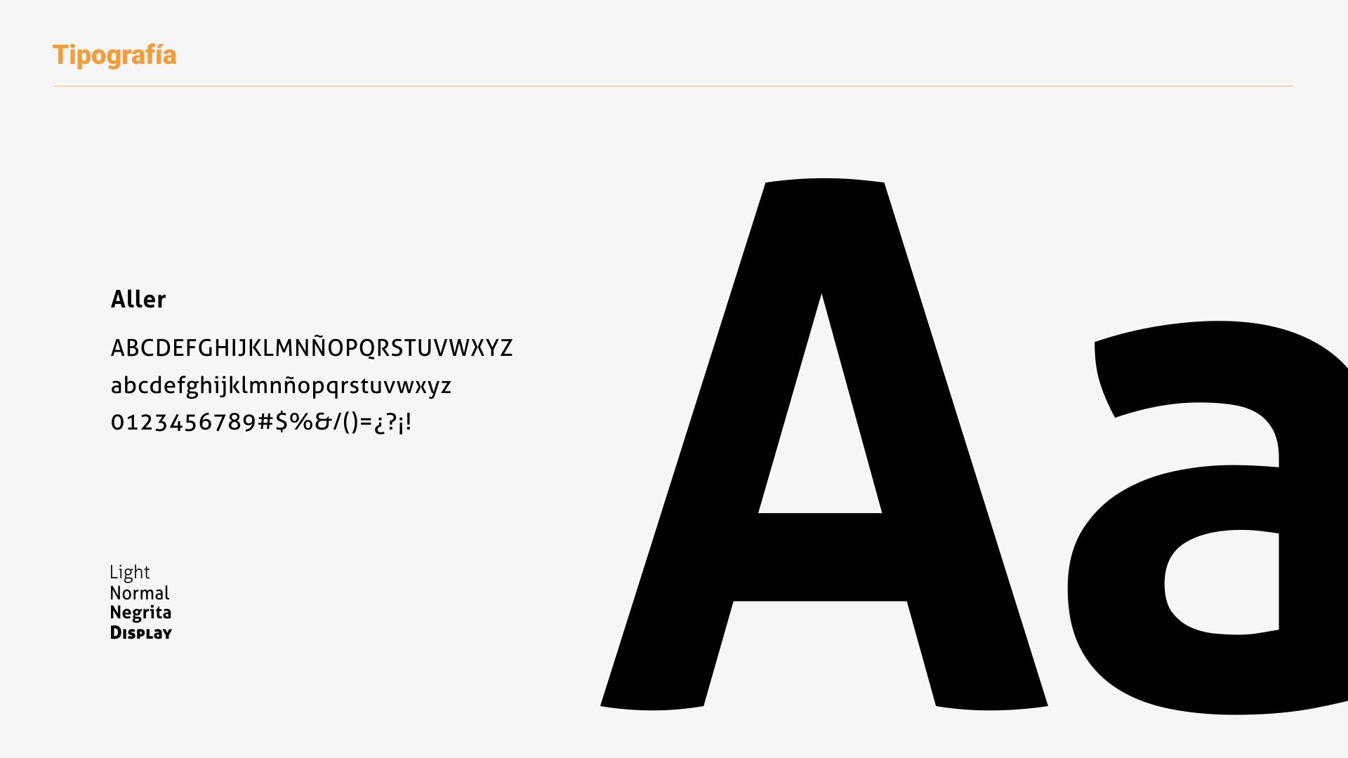 Desarrollo de marca para Ditec - familia tipográfica