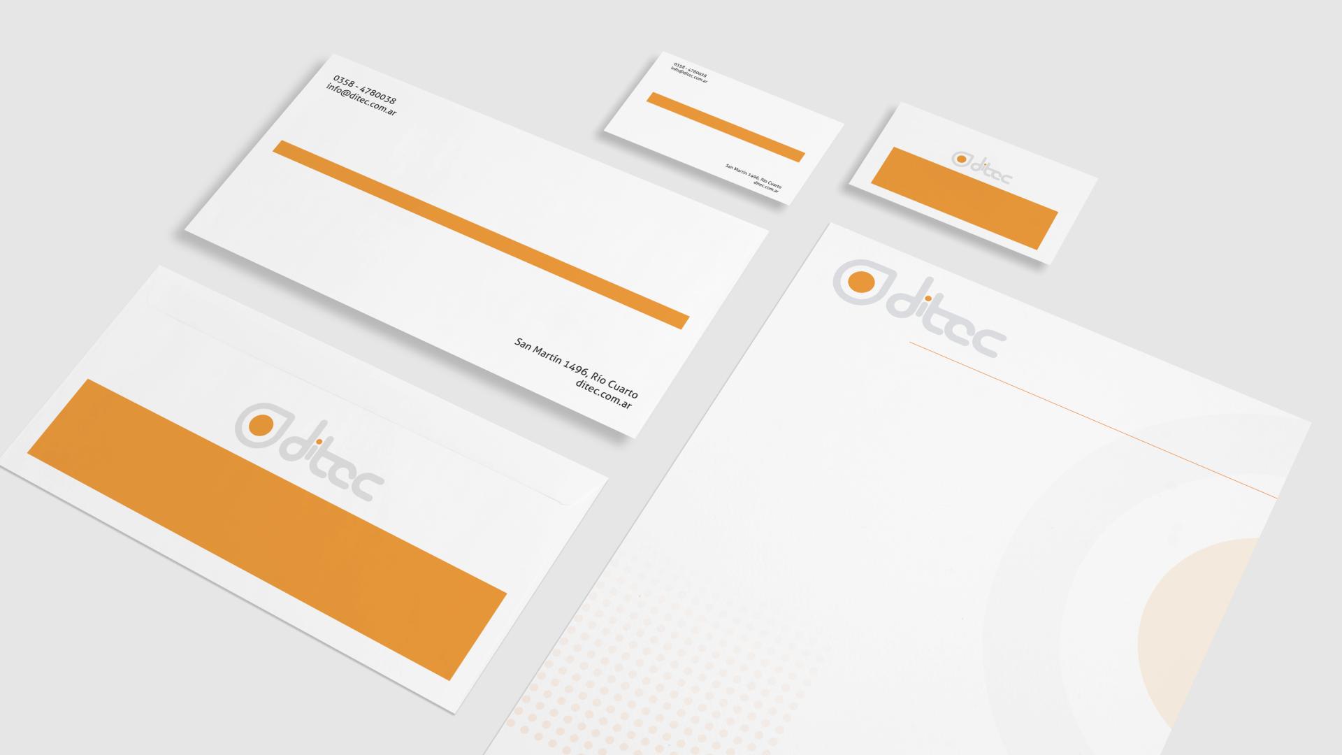 Desarrollo de marca para Ditec - Aplicación de marca