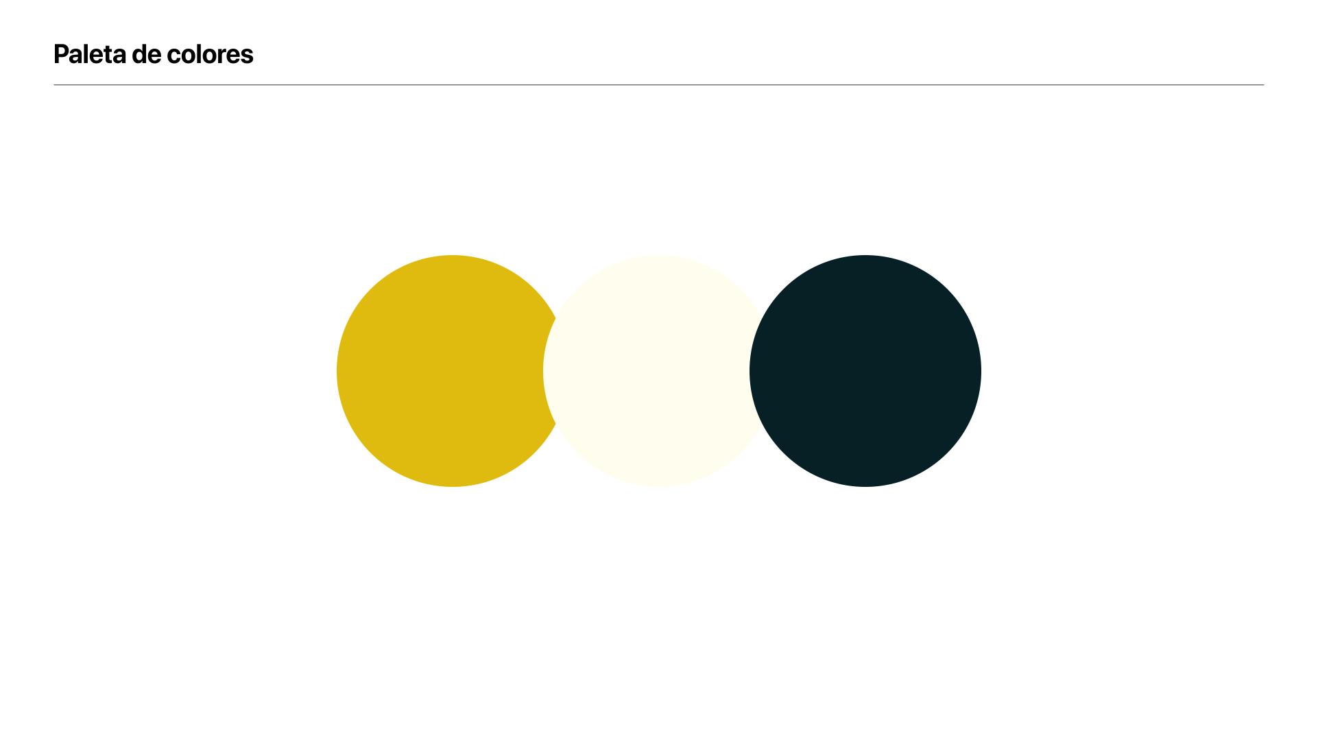 Paleta de colores de la marca