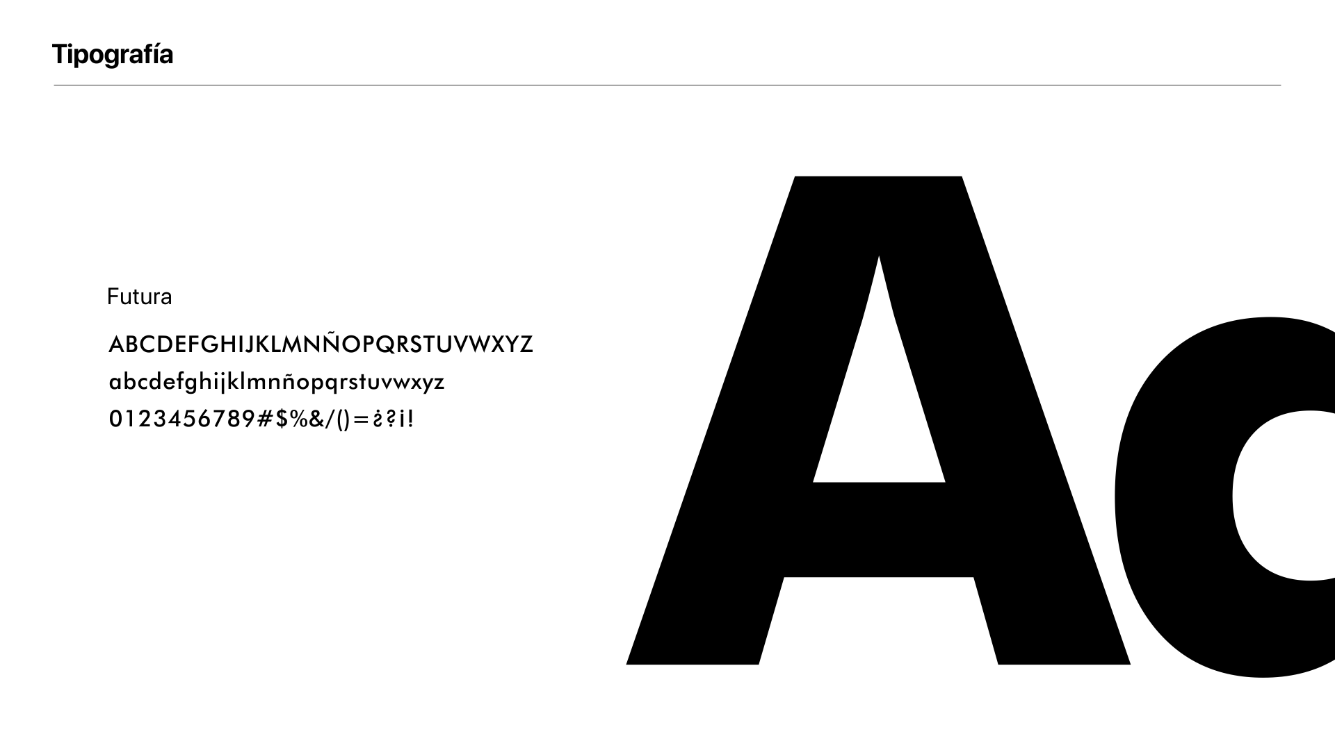 familia tipográfica de la marca