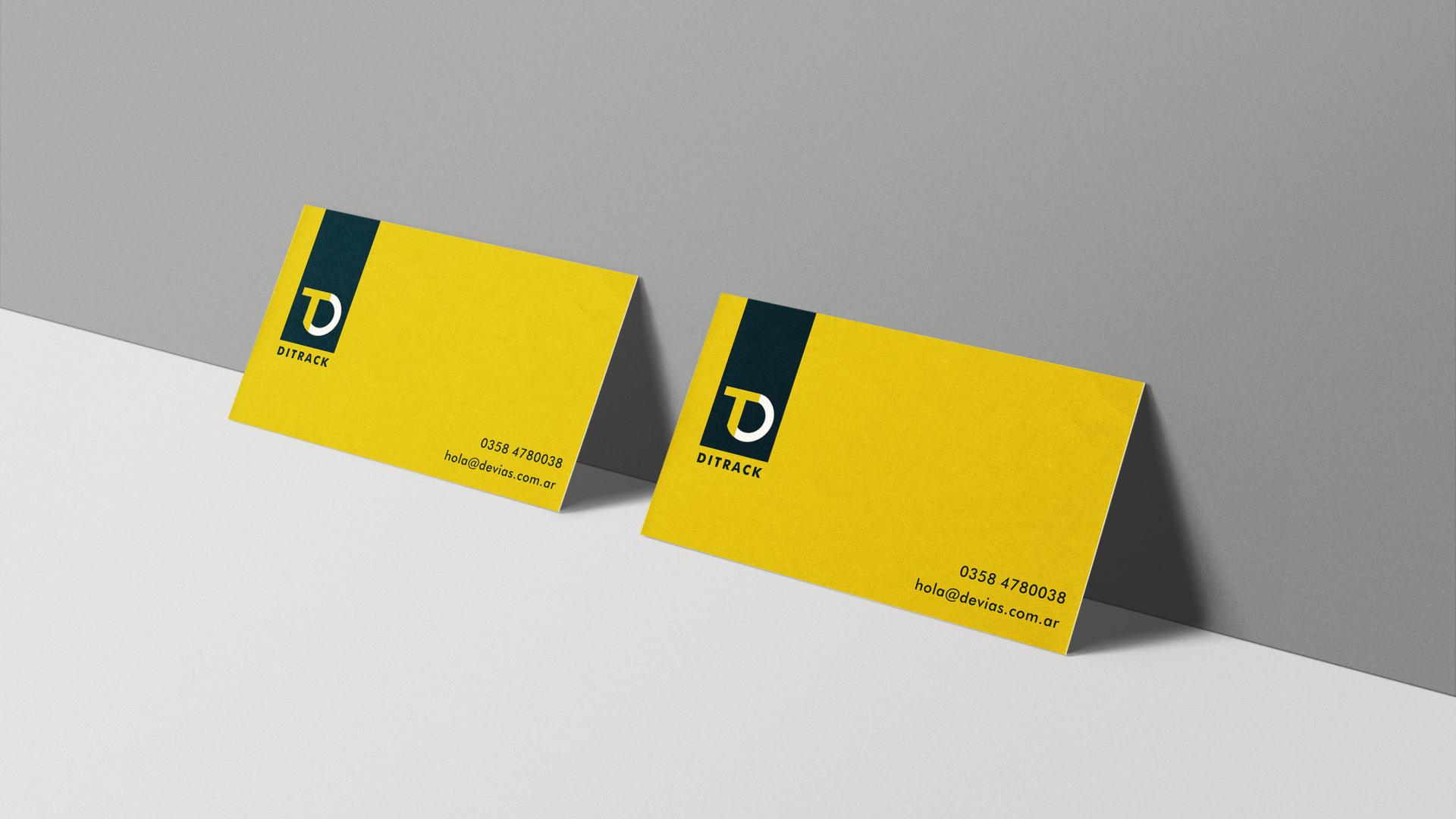 aplicación de la marca - tarjetas personales