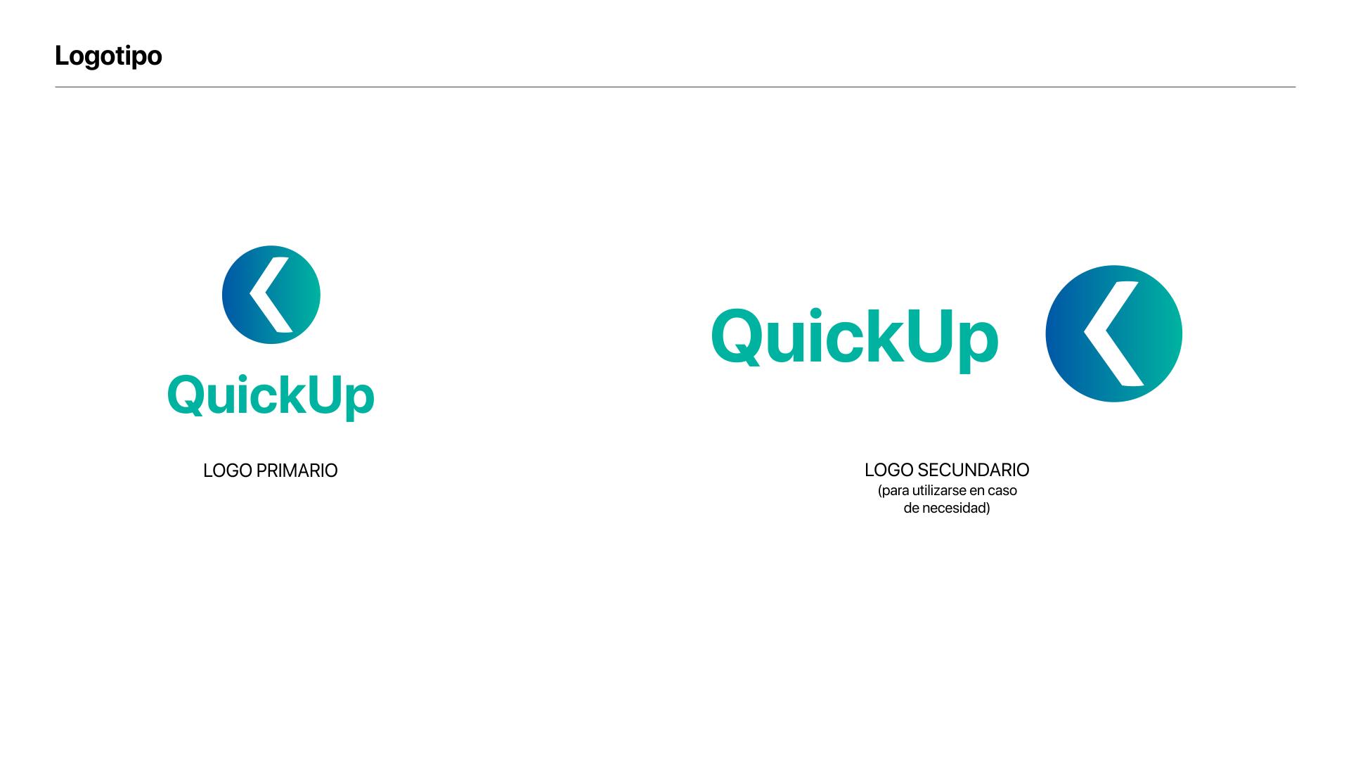 Branding QuickUp logos