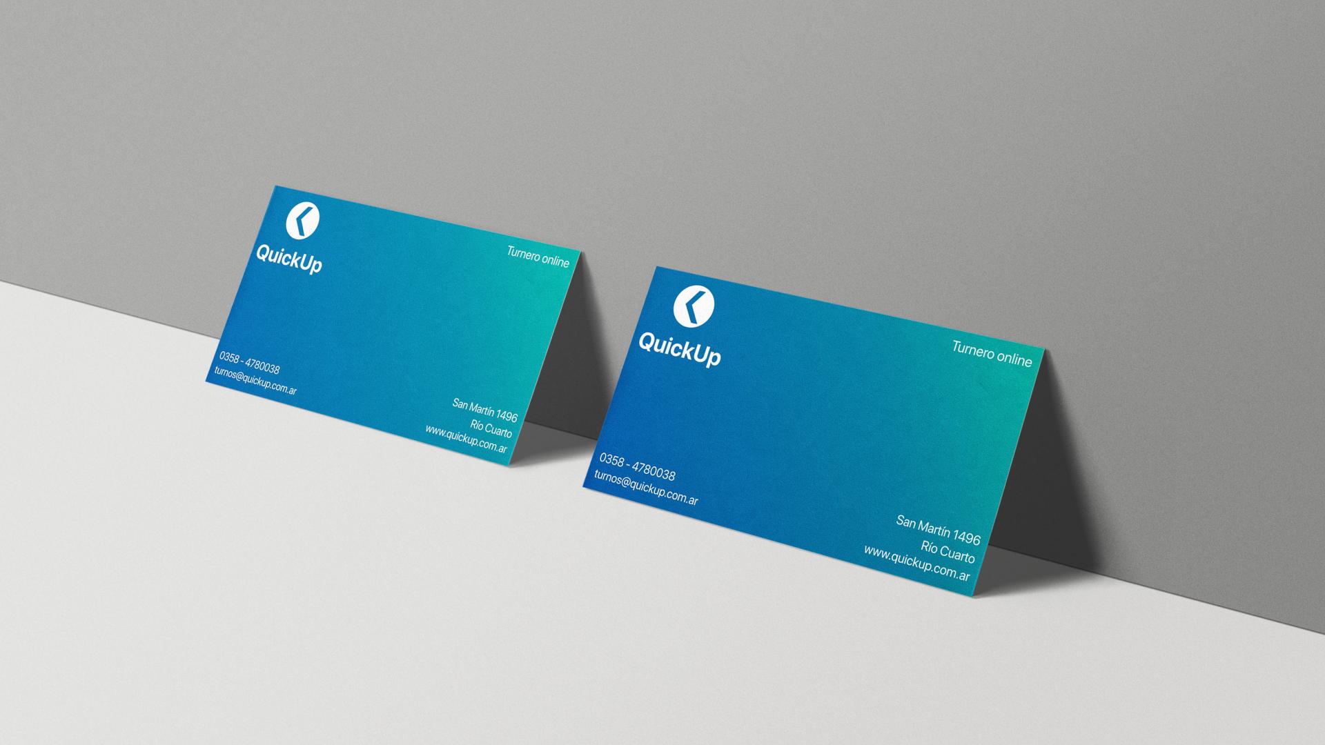 Branding QuickUp tarjetas personales